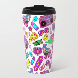 Seamless pattern with colorful retro elements 2 Travel Mug