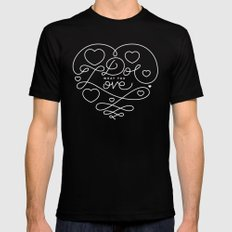 Do What You Love MEDIUM Black Mens Fitted Tee