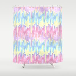 Melty Patterned Slime Shower Curtain