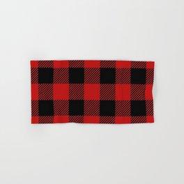 Western Country Woodland Christmas Cottage Primitive lumberjack Buffalo Plaid Hand & Bath Towel