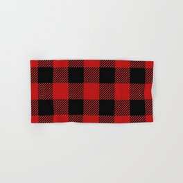 Western Country Woodland Christmas Cottage Primitive lumberjack Buffalo Plaid Hand & Bath Towel