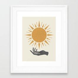 Sunburst Hand Framed Art Print