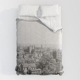 Vintage Photograph of Charlestown Massachusetts  Comforters