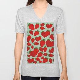 Strawberry Pattern  Unisex V-Neck