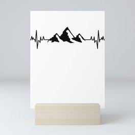Mountains hiking Mini Art Print