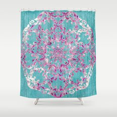 Reinventing A Taste of Lilac Wine Shower Curtain