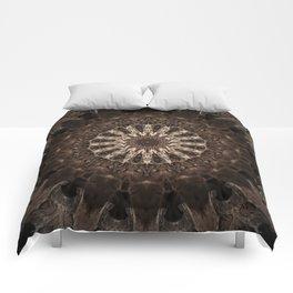 Bohemian Dark Brown Mandala Comforters