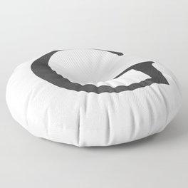 Letter G Initial Monogram Black and White Floor Pillow