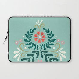 Floral Folk Pattern Laptop Sleeve