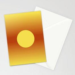 ILLUMINATING SUN Modern abstract illustration  Stationery Cards