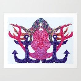 anchored siren Art Print