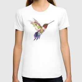 Hummingbird artwork, flying hummingbird T-shirt