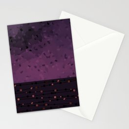 Abstract Purple pattern Stationery Cards