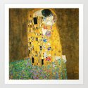 Gustav Klimt The Kiss by artgallery