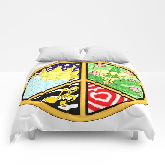 Peace Mandala Comforters