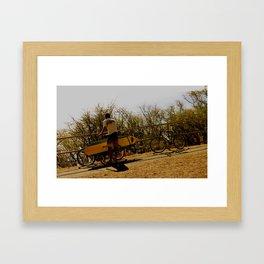 The surfer boy Framed Art Print
