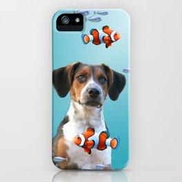 Jack Russel Terrier Clownfishes Underwater iPhone Case