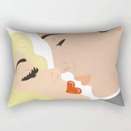 Kissing couple Rectangular Pillow
