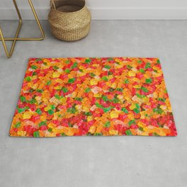 Gummy Bears Real Candy Pattern Rug
