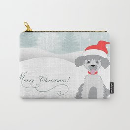 merry christmas with cute puppy Carry-All Pouch