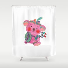 The Pink Koala Shower Curtain