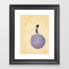The Little Prince Of Saiyans Framed Art Print
