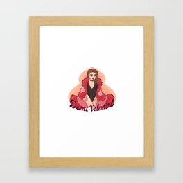 Demi Valentine Framed Art Print