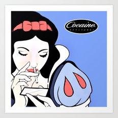 Snow White: Cocaine Attitude Art Print