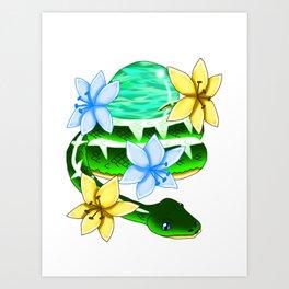 Snake Piece #26 - White Materia Art Print