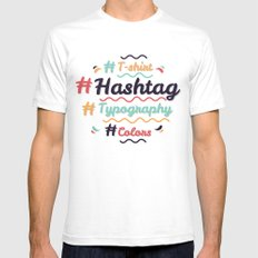 Hashtag Everything Mens Fitted Tee SMALL White