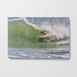 In The Tube at Ponce Inlet Metal Print