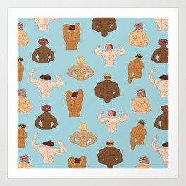 Meat-Heads Art Print