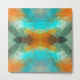 Triangles design in bright colors Metal Print