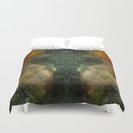 """""""The Inner Forest (caramel pattern)"""" Duvet Cover"""