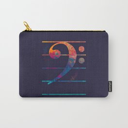 Bass Clef Color Carry-All Pouch