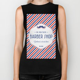 Mr. Moustache Barber Shop Biker Tank