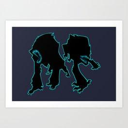 Attack the Block Art Print