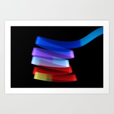 light ribbon Art Print
