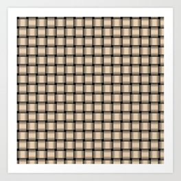 Small Bisque Brown Weave Art Print