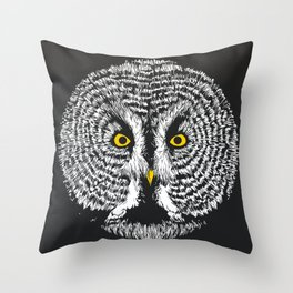 Round Owl Throw Pillow