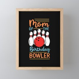 Mom Of The Birthday Bowler Framed Mini Art Print