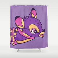 bambi Shower Curtains featuring Bambi Venison by Beery Method