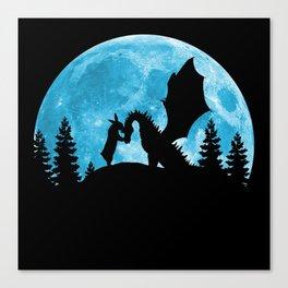 Friendship Of A Blue Moon Canvas Print