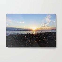 Ocean sunset - Malibu Metal Print
