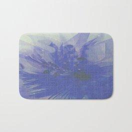 Sheer Floral Veil Abstract Bath Mat