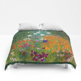 Flower Garden Bauerngarten Klimt Garden Floral Oil Painting Comforters