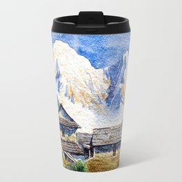 Old House By The Mountain Travel Mug