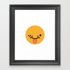 Emojis: Crazy face Framed Art Print