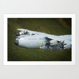 Airbus A400M At Mach Loop Bwlch Art Print