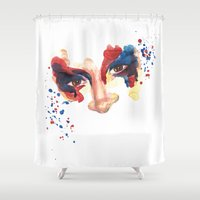 danny ivan Shower Curtains featuring Tears of Colour - Ivan by Tears of  Colour